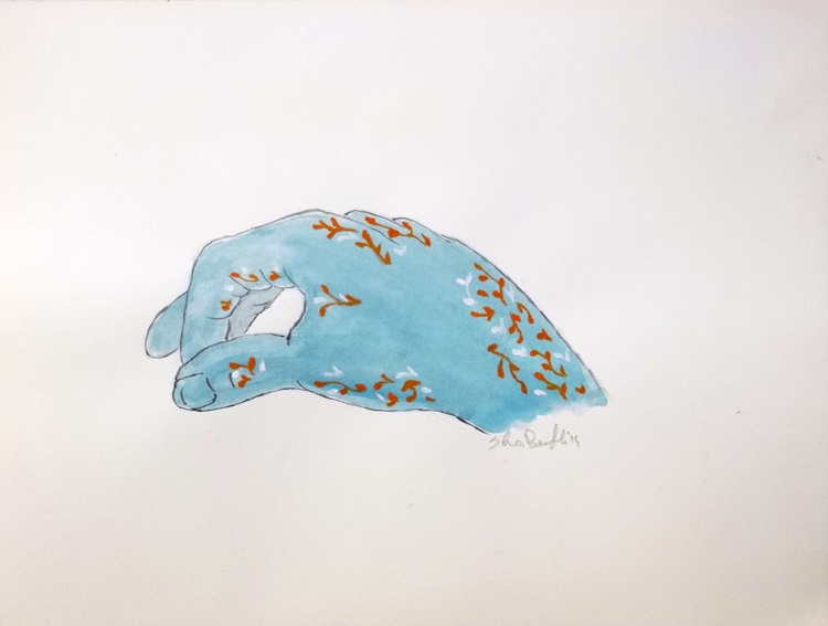 The blue hand - Image 0