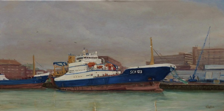 Colourful Harbour scenes series #3 - Image 0