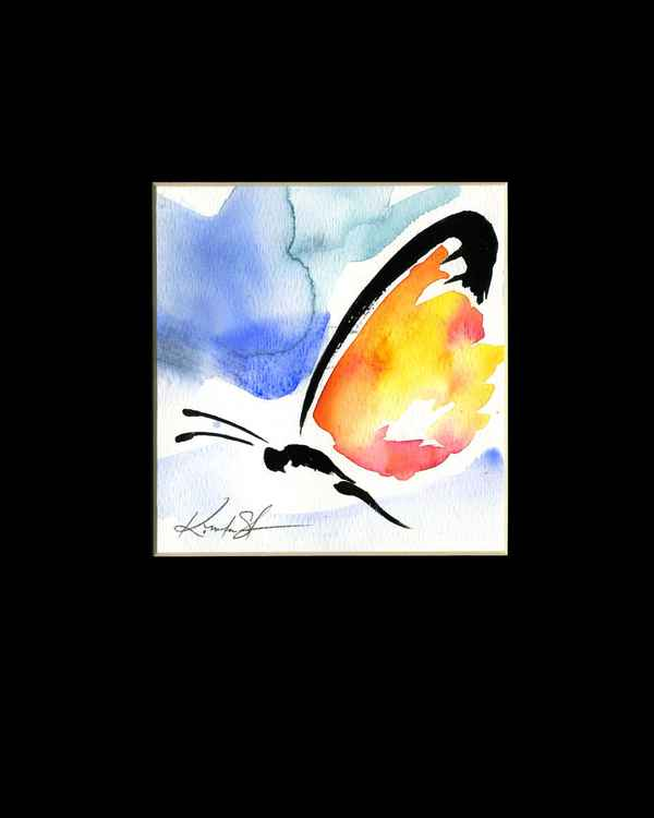 Monarch Butterfly Watercolor Painting, Abstract- Butterfly Love No. 957