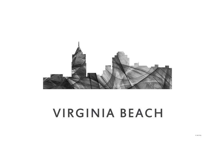 Virginia Beach Virginia Skyline WB BW -