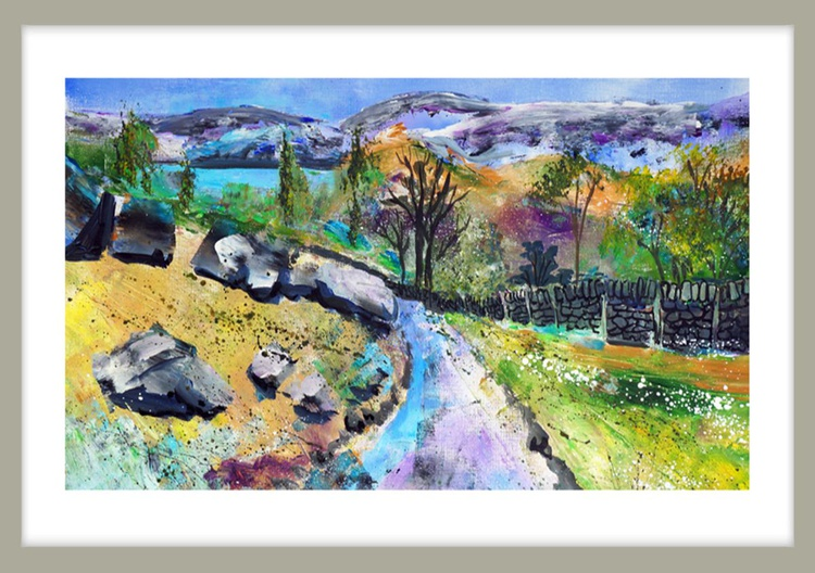 View to Derwent Water from path to Castle Crag - Image 0