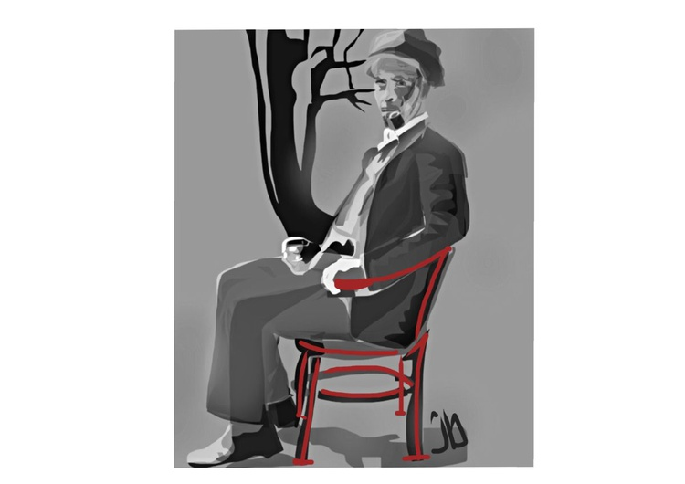 Dutchman in a Red Chair - Image 0