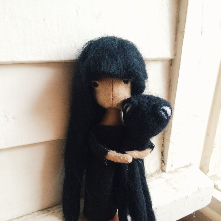 Octu - Poseable Ooak Doll with unique cloth - Image 0