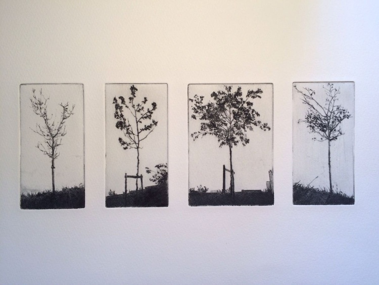 Group of four trees - Image 0