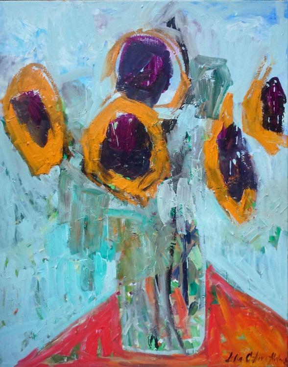Five sunflowers. - Image 0