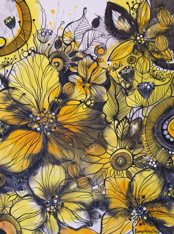 Excuisite Golden Flowers - Image 0