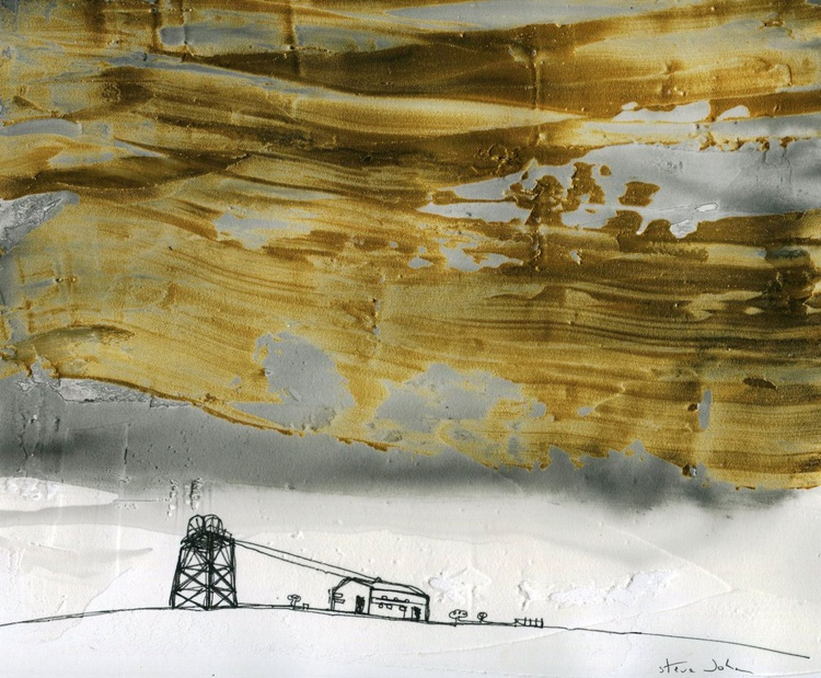 Coal Mine under a gold sky - Image 0