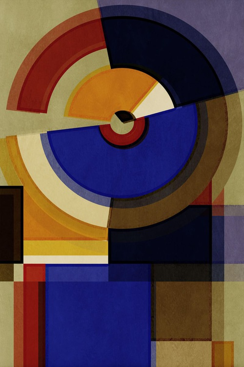 Hertz Van Bauhaus FIVE, Abstract Geometric Art, Limited Edition of 6 - Image 0