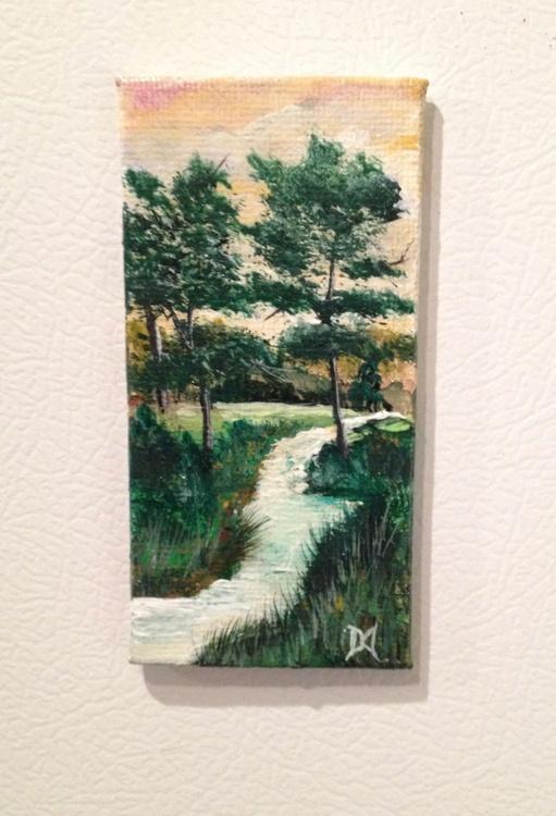 Golden Evening: Miniature Painting - Image 0