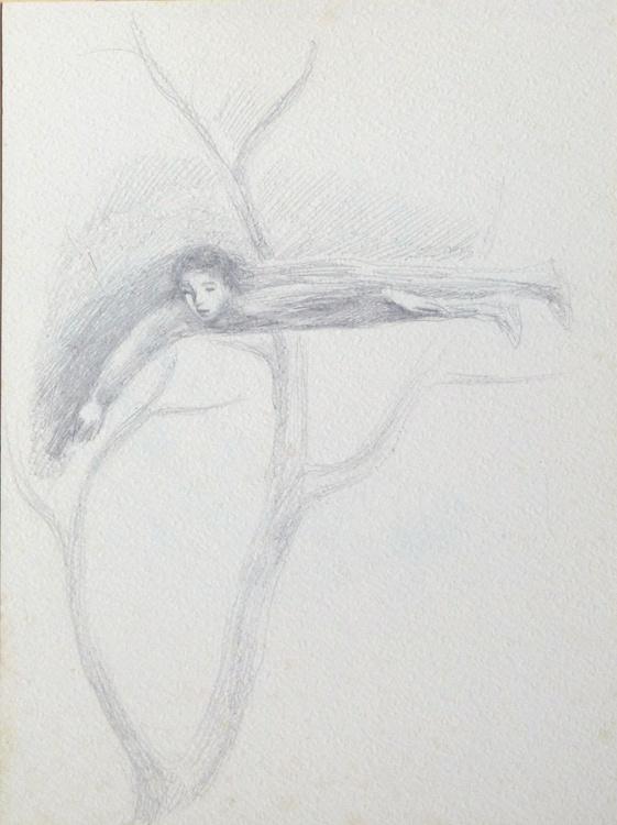 Fairy Tale Illustration, pencil drawing, study #2 24x32 cm - Image 0