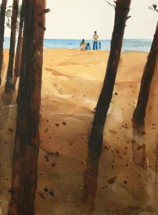 Happy on the beach -