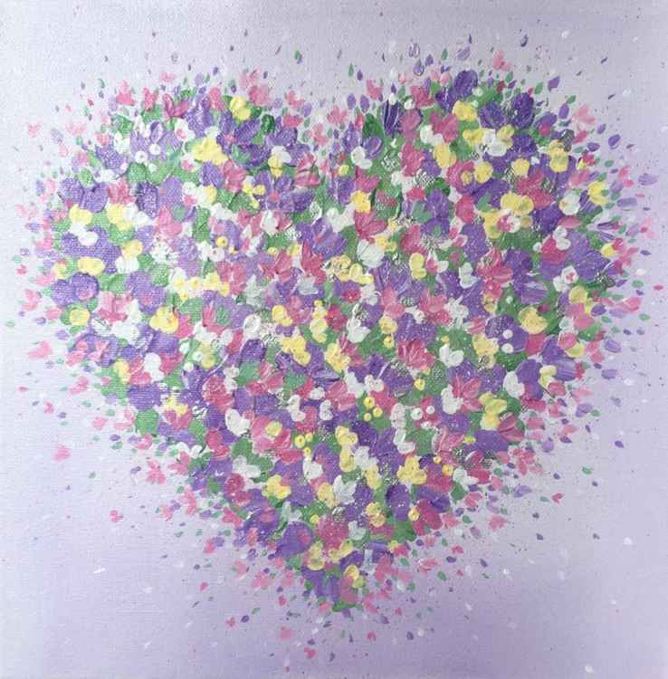 Exploding Heart 10 x 10ins x 1.5ins
