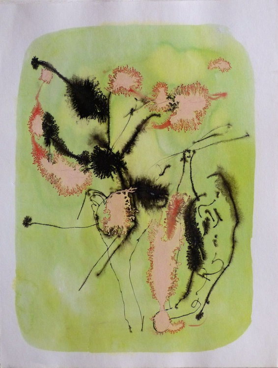 Pink Flowers, 24x32 cm - Image 0