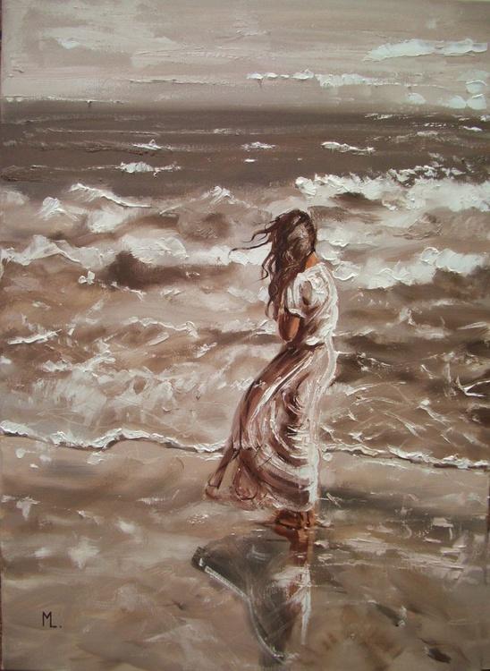 """ WIND OF CHANGES ... "" SEA original painting palette knife GIFT MODERN URBAN ART OFFICE ART DECOR HOME DECOR GIFT IDEA - Image 0"