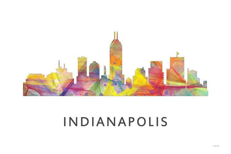 Indianapolis Indiana Skyline WB1 -
