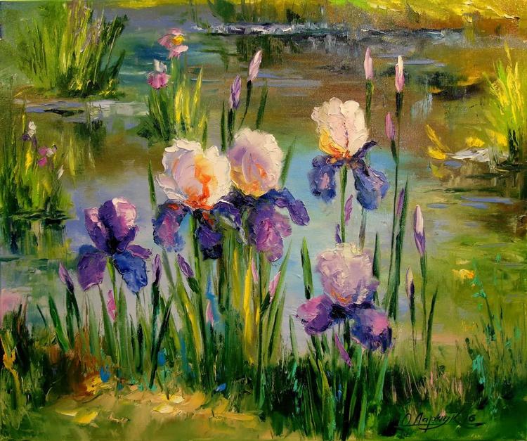 Iris by the pond - Image 0