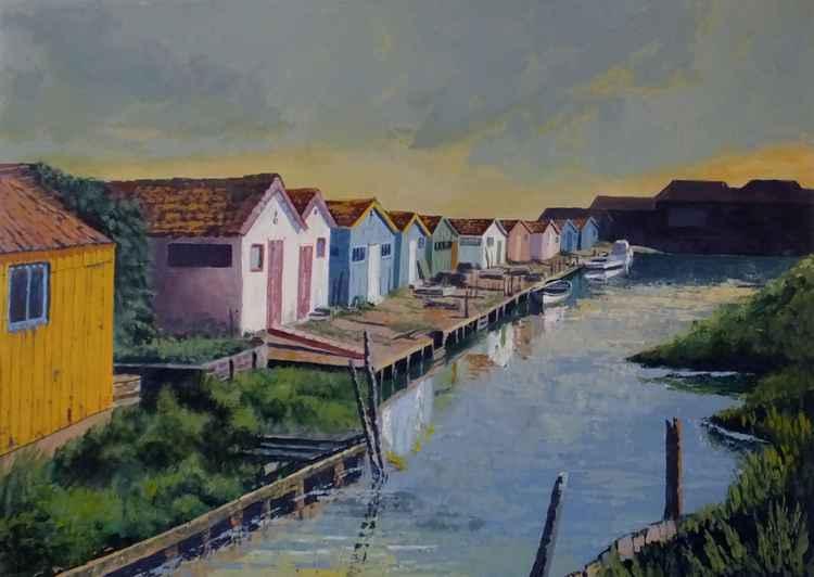 Oystermen's huts - Isle d'Oleron 70cm x 50cm