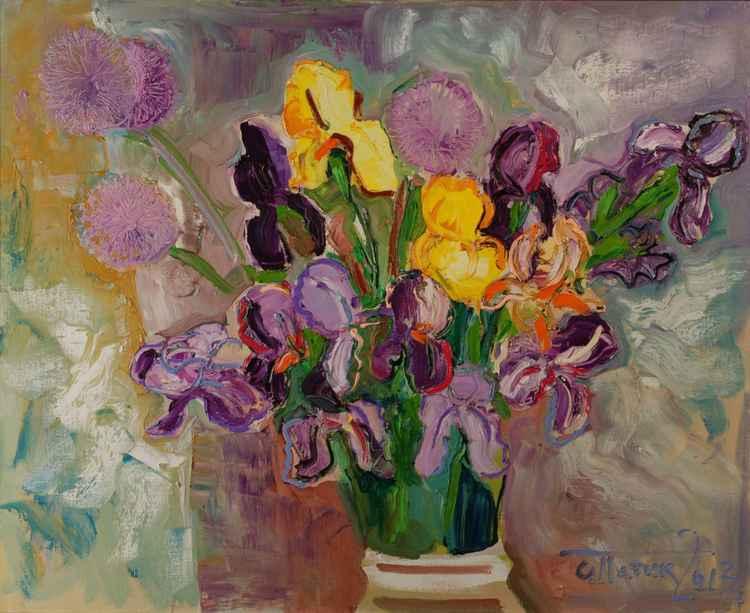 Stormy Irises -