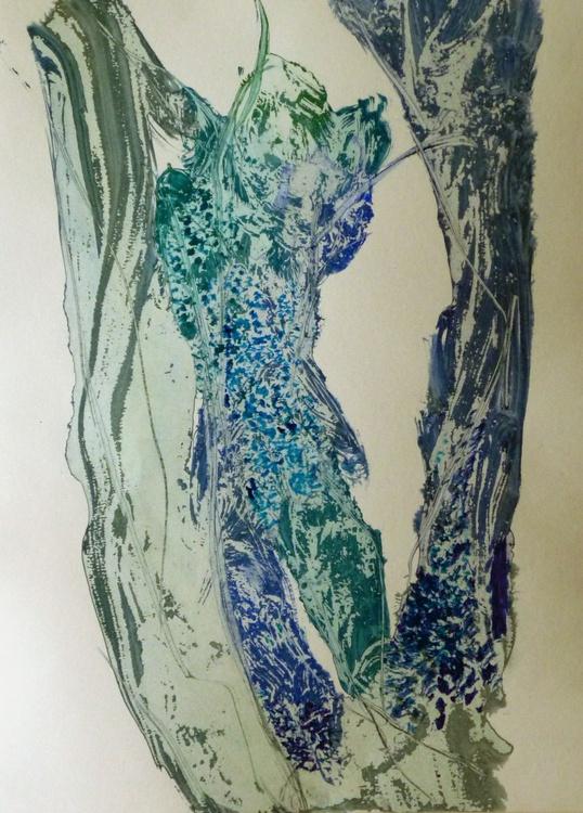 Acrylic on paper #62, 29x42 cm - Image 0