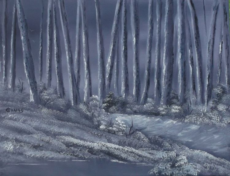 Forest Sentinals in Purple. - Image 0