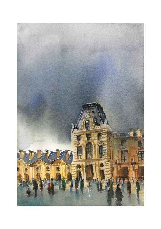 Cityscape original painting, Paris