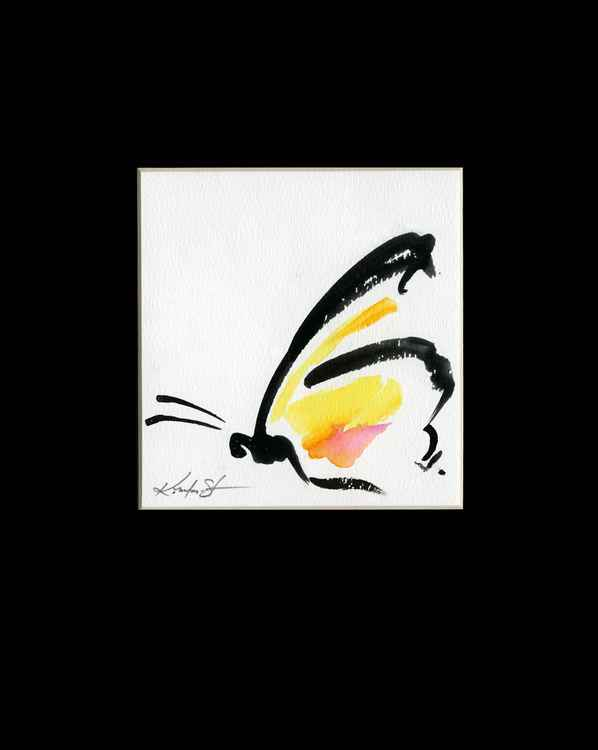 Monarch Butterfly Watercolor Painting, Abstract- Butterfly Love No. 960 -