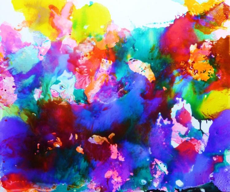 The garden of Eden. Lilacs.100x120cm - Image 0