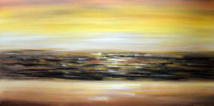 Infinity - Abstract Acrylic Art Painting - 28x55 inch, 2015 -
