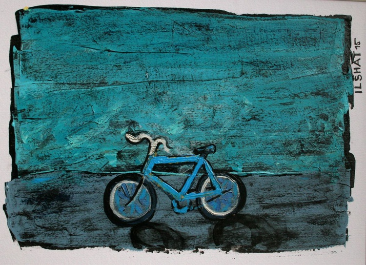 Blue bicycle - Image 0