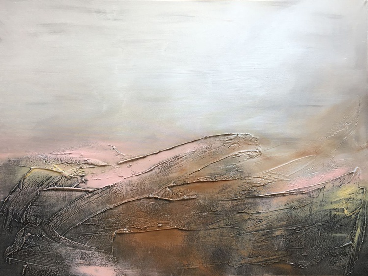 Large Textured abstract painting - Image 0