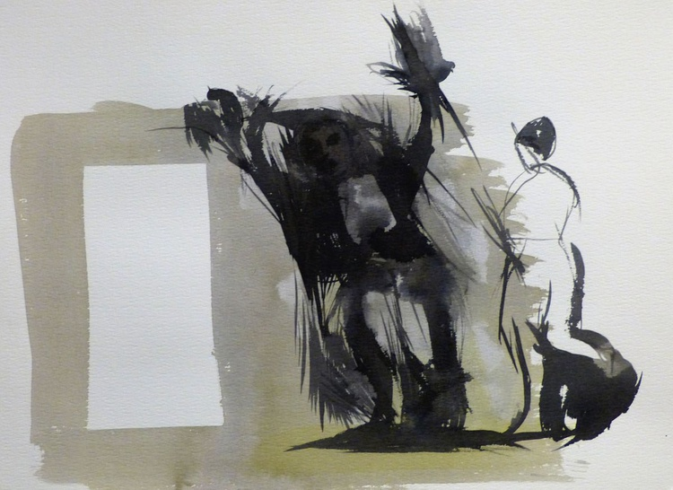 In Wonderland #4, Ink on Paper 41x29 cm - Image 0