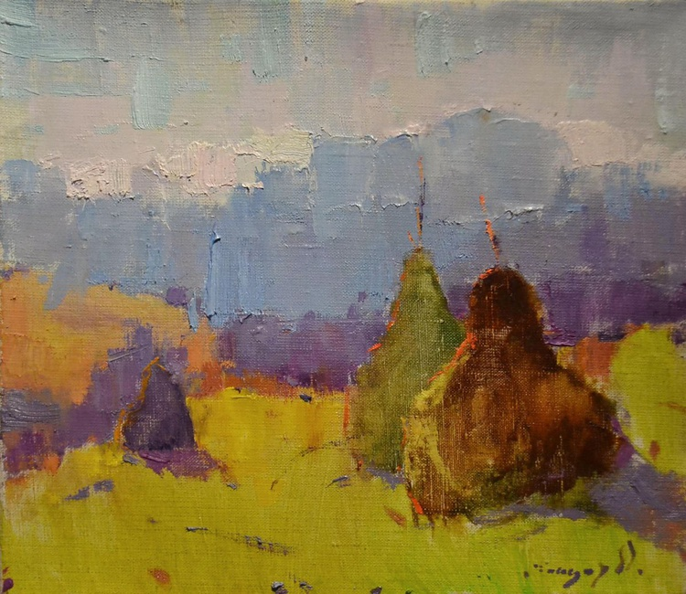 Haystacks in the backlighting - Image 0