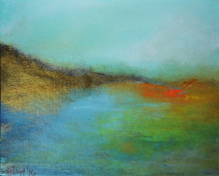 """Landscape abstract """"Summer in the hills"""" - Image 0"""