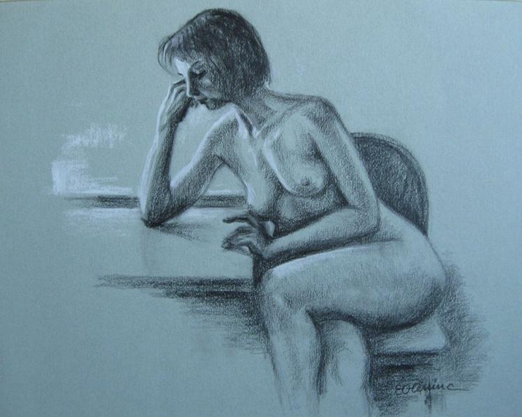Seated nude 2 - Image 0