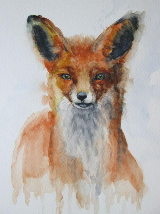 """WATCHING"", watercolour - Image 0"