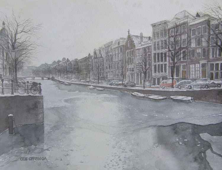 In the direction of the Leidsestraat, Amsterdam. -