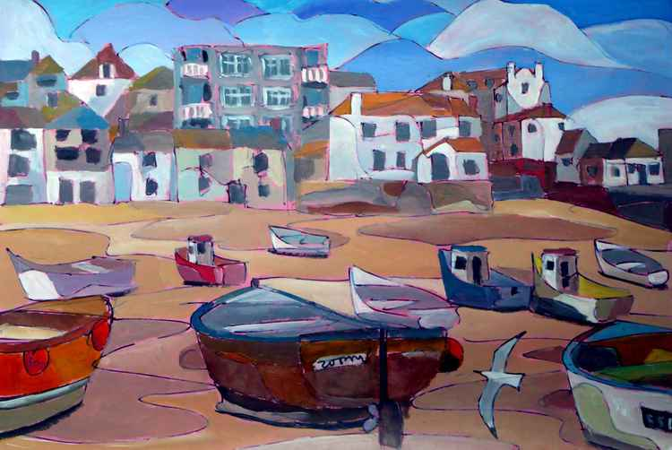 Low tide, St Ives harbour -