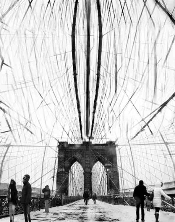 On Brooklyn Bridge -