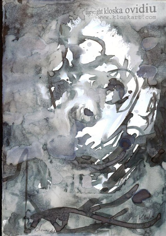 """I am just a clown"" (no ° 21), signed february 2013 - Image 0"