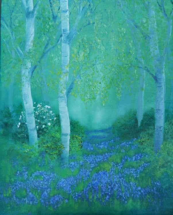 Bluebells and Birch -