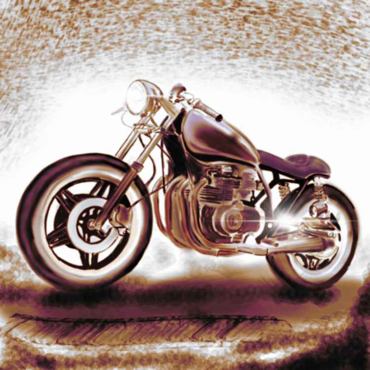 Cafe Racer - Digital Artwork -
