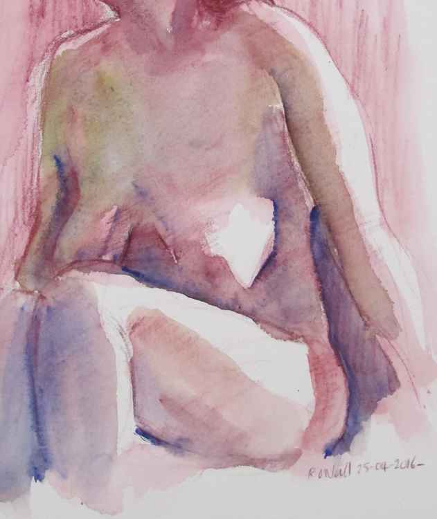 seated female nude -