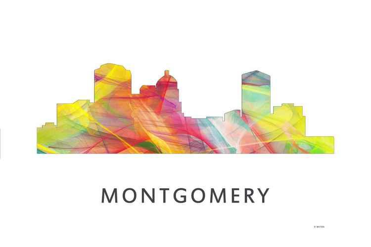 Montgomery Alabama Skyline WB1 -