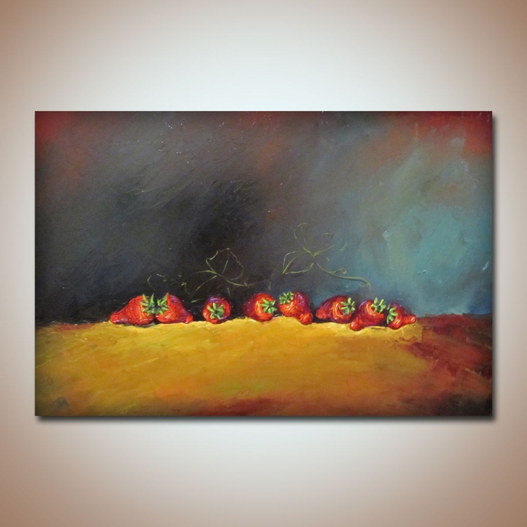 The secret dinner, oil painting on canvas, still life paintings, free shipping - Image 0