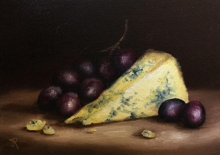 Cheese and grapes No. 3 - Image 0
