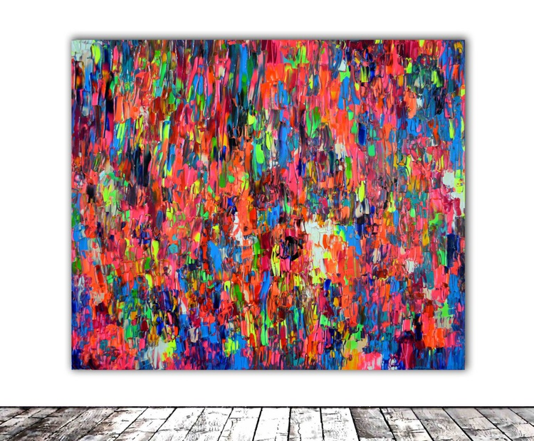 Phosphorus Gypsy - 120x100 cm - Large Abstract, Big Painting - Ready to Hang, Office, Hotel, Restaurant Wall Decor - Image 0