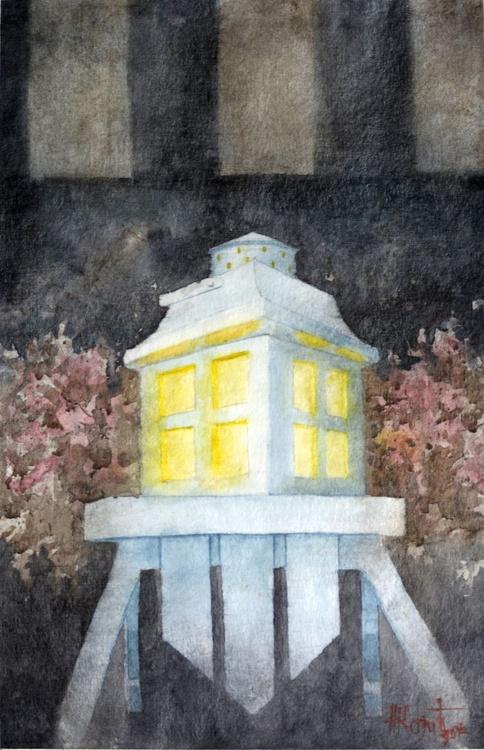 Le Petitte Piaf - original watercolor painting by Nenad Kojić - Image 0