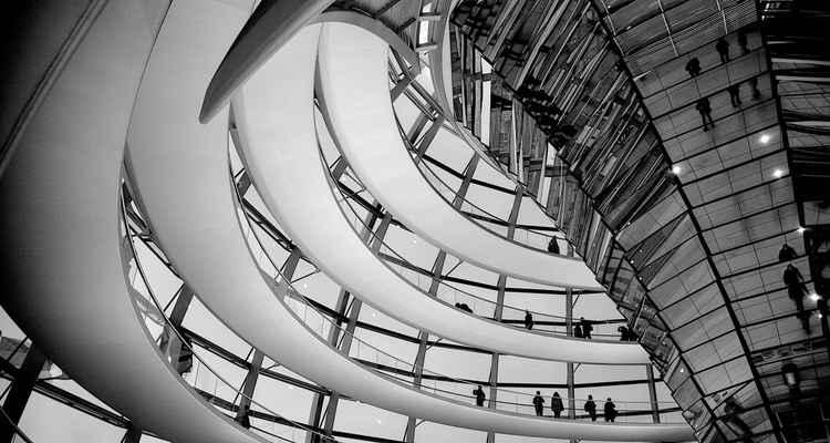Bundestag. Black and White. -