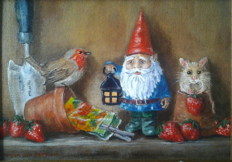 """NO PLACE LIKE GNOME""- Still-life with a twist - - Image 0"