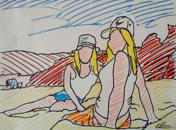 Sun-bathers -
